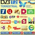 Каналы цифрового ТВ РТРС. Мультиплексы РТРС-1 и РТРС-2.